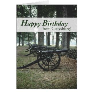 Cartão Aniversário de 2676 cânones de Gettysburg