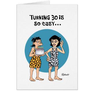 Cartão Aniversário de 30 anos engraçado
