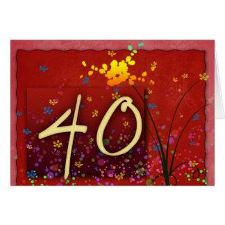 Cartão Aniversário de 40 anos feliz!