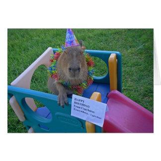 Cartão Aniversário de Capy de Caplin Rous