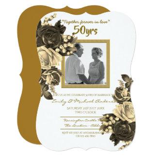Cartão Aniversário de casamento cor-de-rosa do vintage -