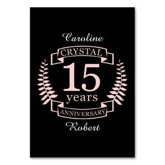 Cartão Aniversário de casamento de cristal 15 anos