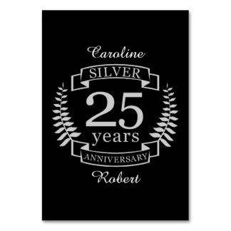 Cartão Aniversário de casamento de prata 25 anos