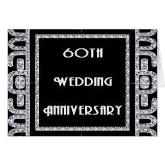 Cartão Aniversário de casamento do jubileu de diamante