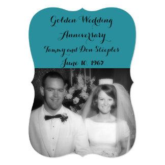 Cartão Aniversário de casamento dourado #2