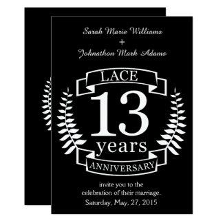 Cartão Aniversário de casamento tradicional do laço 13