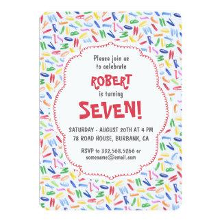 Cartão Aniversário de criança do costume do alfabeto da