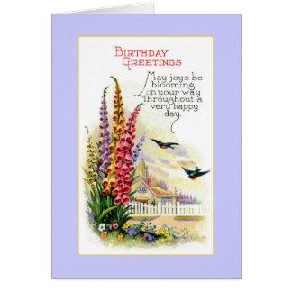 Cartão Aniversário de florescência