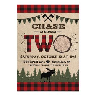 Cartão Aniversário de madeira da região selvagem da