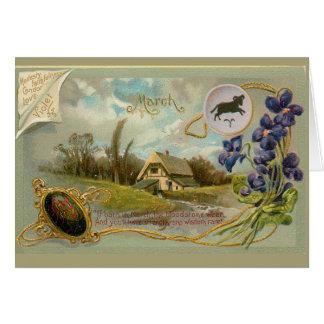 Cartão Aniversário de março