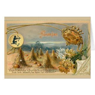 Cartão Aniversário de novembro
