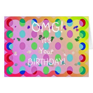 Cartão Aniversário de OMG!