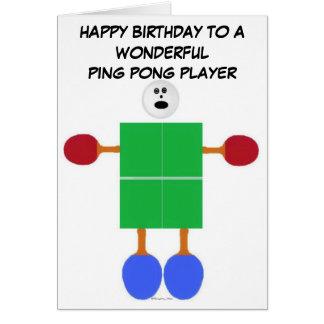 Cartão Aniversário de Pong do sibilo