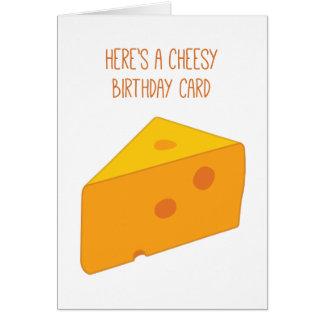 Cartão Aniversário de queijo