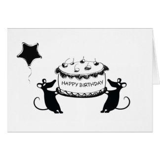 Cartão Aniversário de Ratastic!