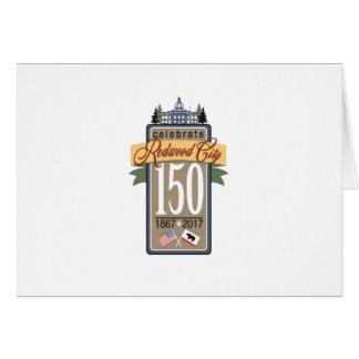 Cartão Aniversário de Redwood City 150th