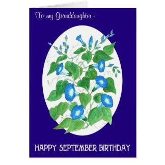 Cartão Aniversário de setembro da corriola para a neta
