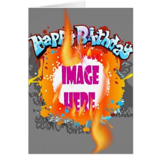 Cartão Aniversário de três alarmes