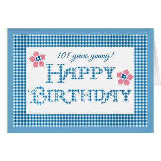 Cartão Aniversário dianteiro feito sob encomenda, teste