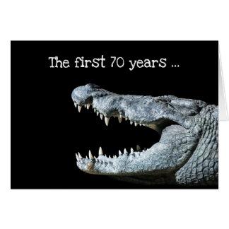 Cartão Aniversário do 70 do crocodilo