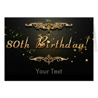 Cartão aniversário do 80!