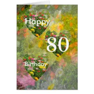 Cartão aniversário do 80