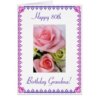 Cartão Aniversário do 80 da avó