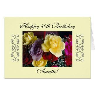 Cartão Aniversário do 80 do Auntie