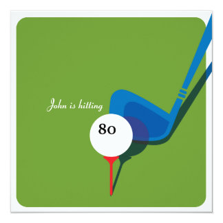 Cartão Aniversário do 80 do golfe - ainda balançando!