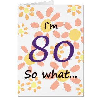 Cartão aniversário do 80 engraçado