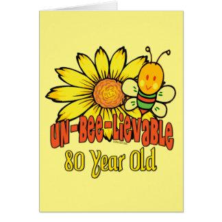 Cartão aniversário do 80 - inacreditável em 80 anos velho