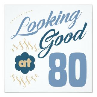 Cartão aniversário do 80 que olha bom