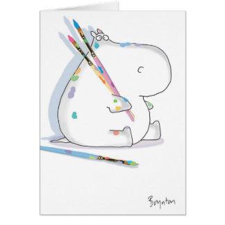 Cartão Aniversário do ARTISTA do HIPOPÓTAMO