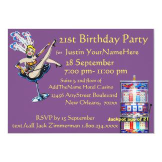 Cartão Aniversário do artista do jackpot do casino