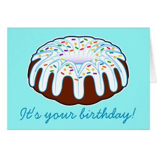 Cartão Aniversário do bolo de Bundt!