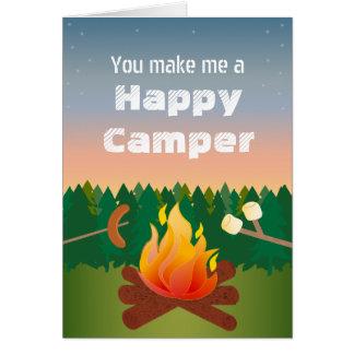 Cartão Aniversário do campista feliz
