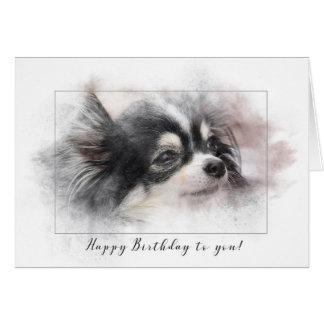 Cartão Aniversário do cão de Pomeranian
