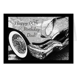 Cartão Aniversário do carro do vintage do pai