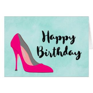 Cartão Aniversário do chique dos calçados do salto alto