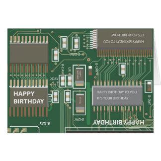 Cartão aniversário do computador