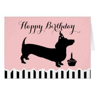 Cartão Aniversário do Dachshund