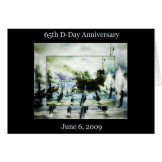 Cartão Aniversário do dia D 65th