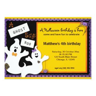 Cartão Aniversário do Dia das Bruxas