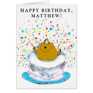 Cartão Aniversário do dia de Groundhog