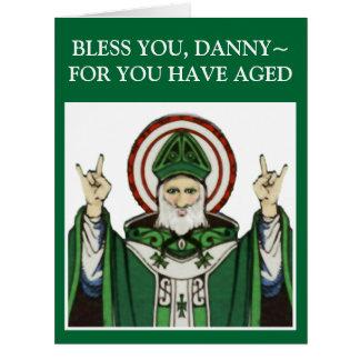 Cartão Aniversário do dia de St Patrick