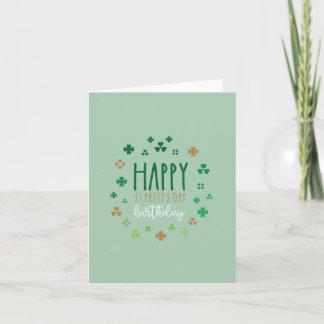 Cartão Aniversário do dia do rissol feliz do St.