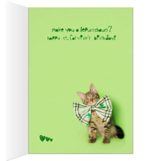 Cartão Aniversário do dia do St. Patricks