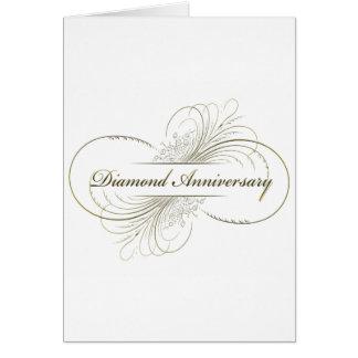 Cartão Aniversário do diamante