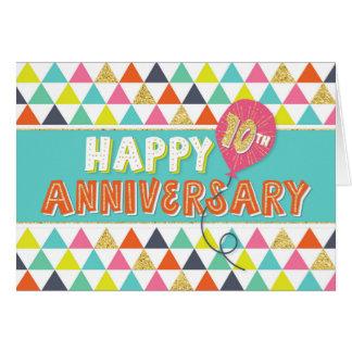 Cartão Aniversário do empregado 10 anos - teste padrão