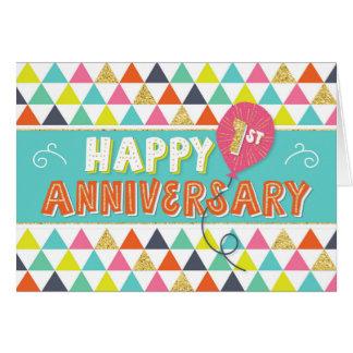 Cartão Aniversário do empregado 1 ano - teste padrão